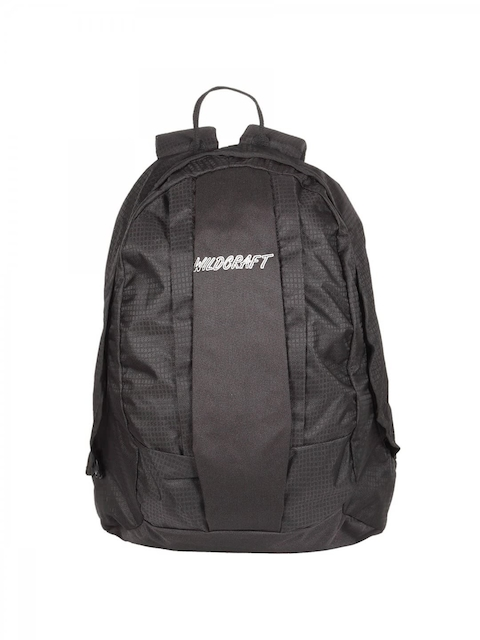 Wildcraft Unisex Black Solid Backpack