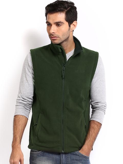 Wildcraft Men Green Sleeveless Fleece Sweatshirt