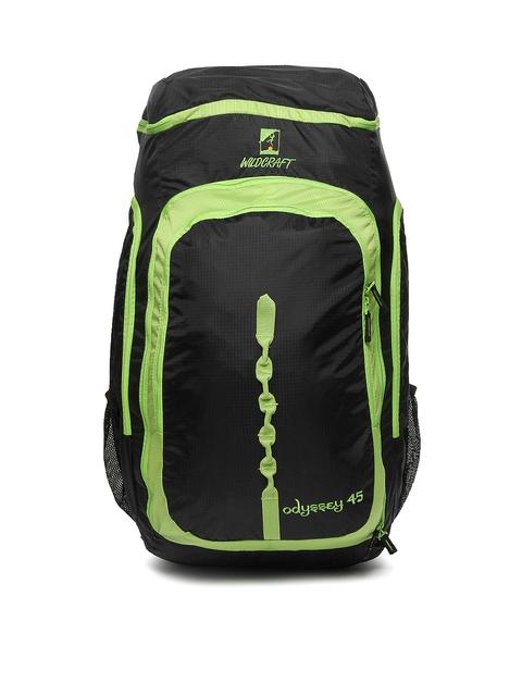 Wildcraft Unisex Black & Green Odyssey 45 Rucksack