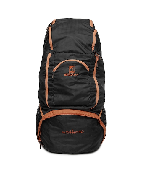 Wildcraft Unisex Black & Orange Outrider 40 Rucksack