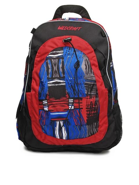 Wildcraft Unisex Black & Red Backpack