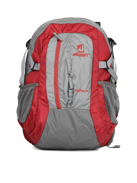 Wildcraft Unisex Nuptse Red & Grey Rucksack