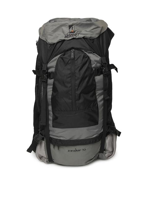 Wildcraft Unisex Grey & Black Rucksack