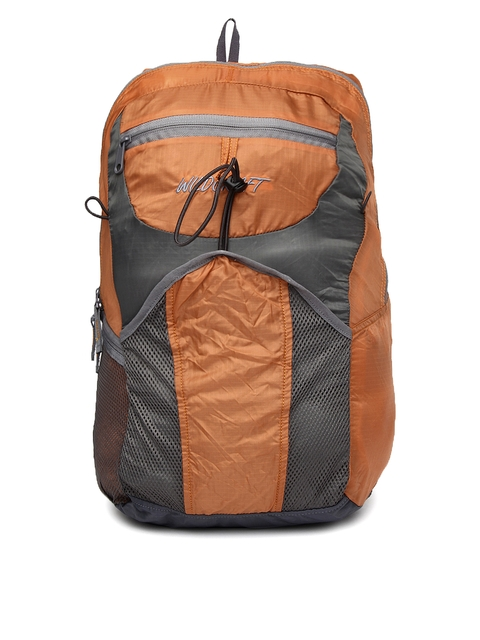 Wildcraft Unisex Orange & Grey Foldable Backpack