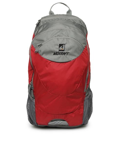 Wildcraft Unisex Red & Grey Backpack