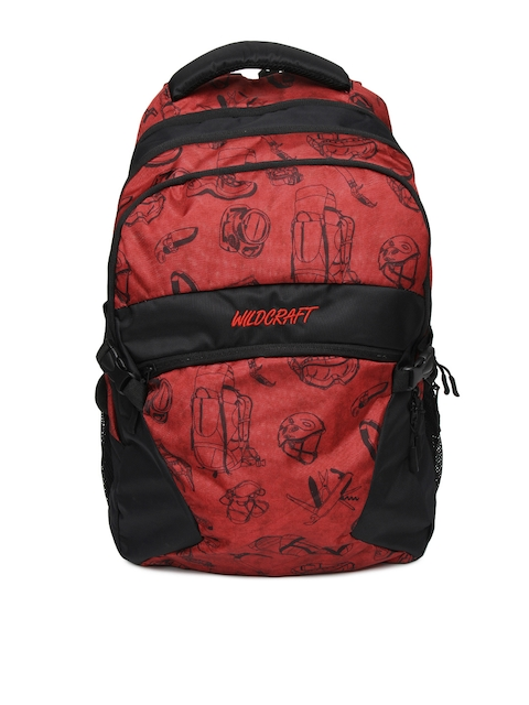 Wildcraft Unisex Red Printed Backpack