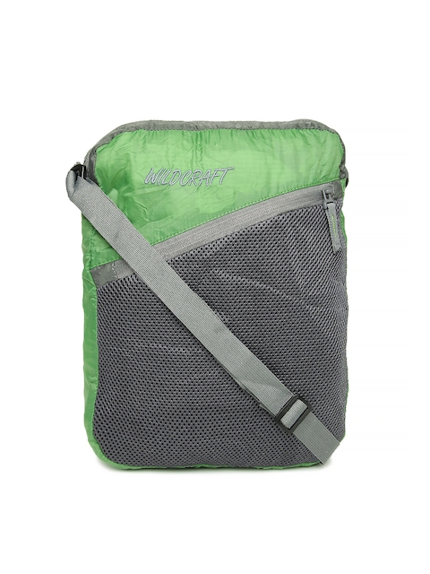 Wildcraft Unisex Green & Grey Foldable Messenger Bag  available at myntra for Rs.545