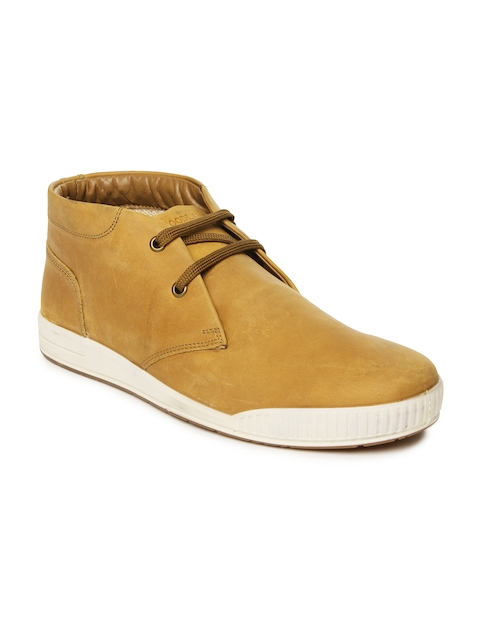 Woodland Men Brown Leather Casual Shoes  available at myntra for Rs.1747