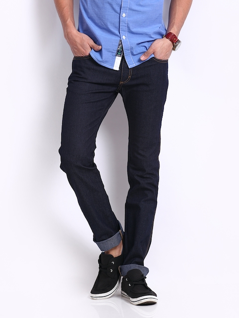 Wrangler Men Blue Skanders Slim Fit Jeans  available at myntra for Rs.947