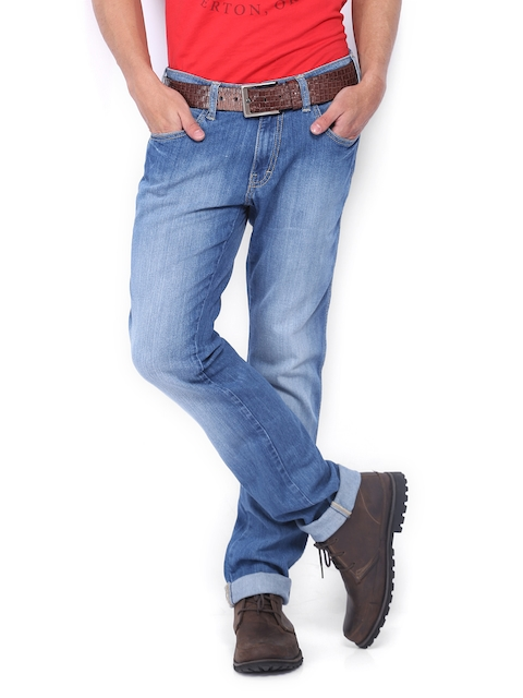 Wrangler Men Blue Skanders Slim Fit Jeans  available at myntra for Rs.1197
