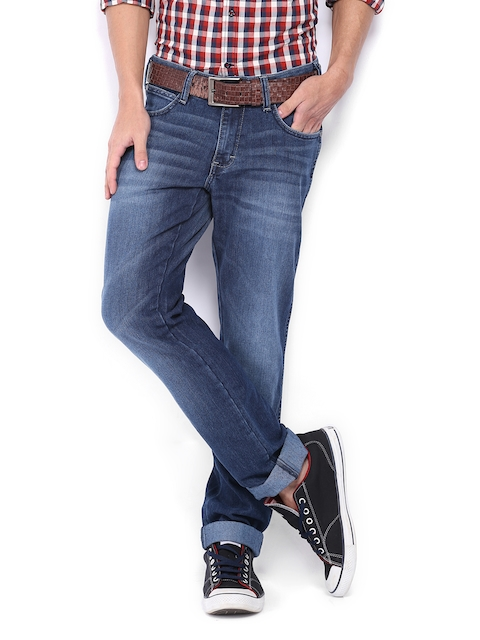 Wrangler Men Blue Skanders Slim Fit Jeans  available at myntra for Rs.1147