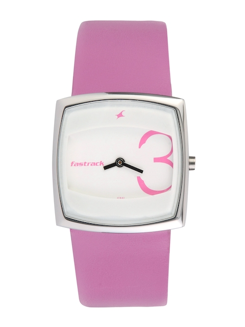 Fastrack Women White Dial Watch N6013SL01