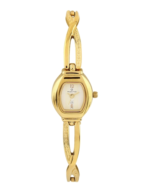 Maxima Women White Dial Watch