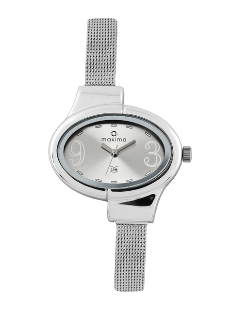 Maxima Attivo Women Silver Toned Dial Watch