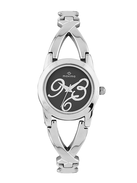Maxima Women Black Dial Watch