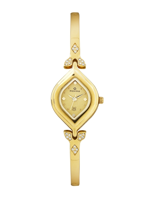 Maxima Women Gold Toned Dial Watch