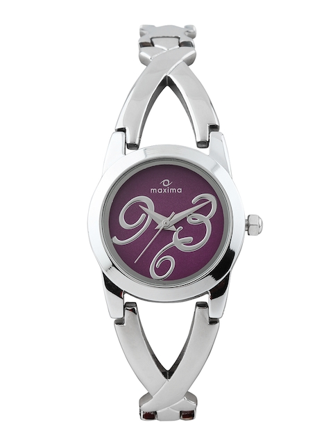 Maxima Women Purple Dial Watch