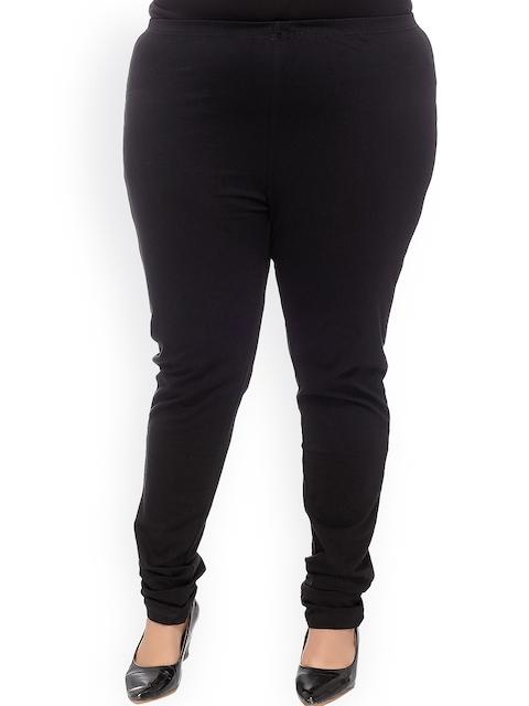 plusS Black Churidar Leggings