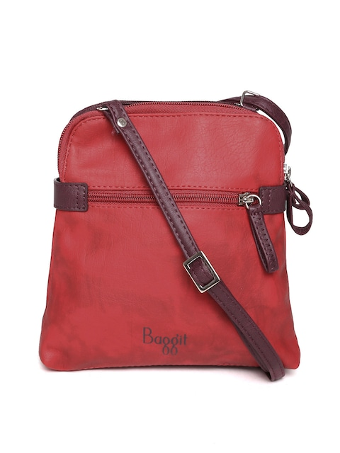 Baggit Women Red Wine Coloured Sling Bag Handbags For 1003061 Myntra