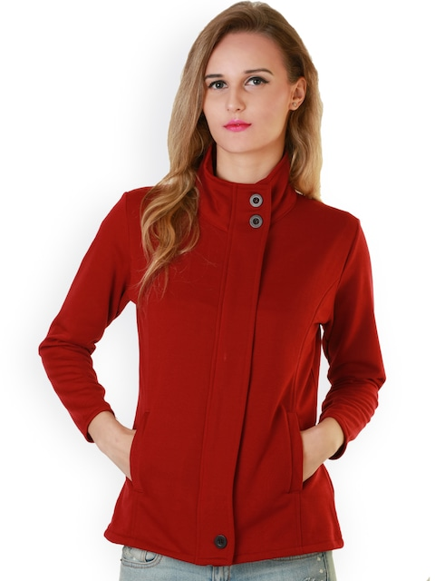Buy Belle Fille Red Jacket - Jackets for Women 1010442 | Myntra