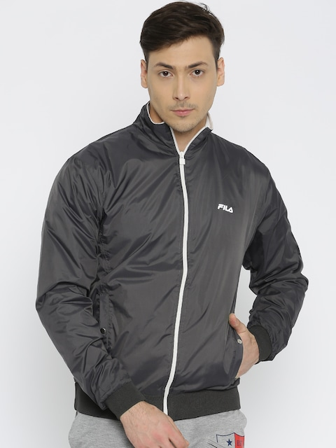98927e0c5e1d Buy FILA Charcoal Grey Bomber Jacket - Jackets for Men