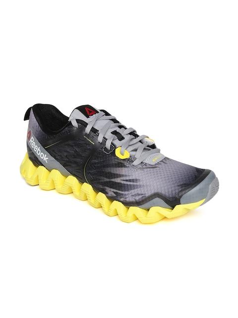 outlet store 16618 3bd3a ... retro oscuro gris verde glow cemento gris b56de 9b3a0  cheap buy reebok  men grey zig squared cruz printed running shoes sports shoes for men 60a90