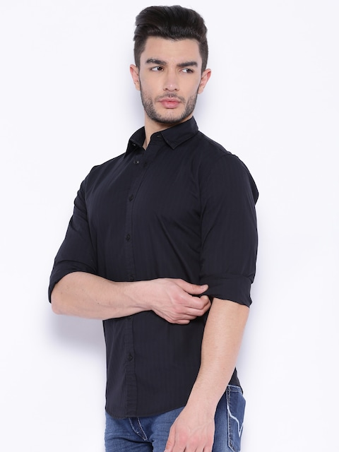 Pepe jeans black slim fit casual shirt