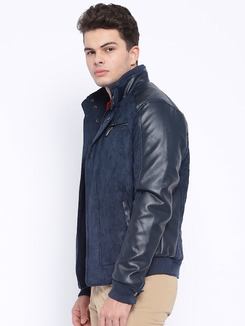 Buy Harvard Navy Quilted Bomber Jacket Jackets For Men Myntra