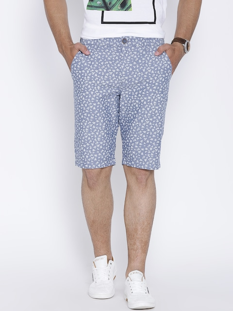 Mens Printed Chino Shorts Benetton