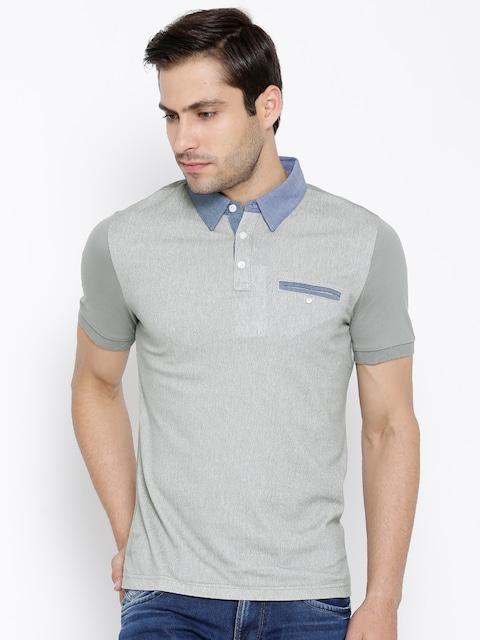 789e8769a Buy Original Penguin Grey Herringbone Pattern Polo T Shirt - Tshirts for  Men 1288883   Myntra