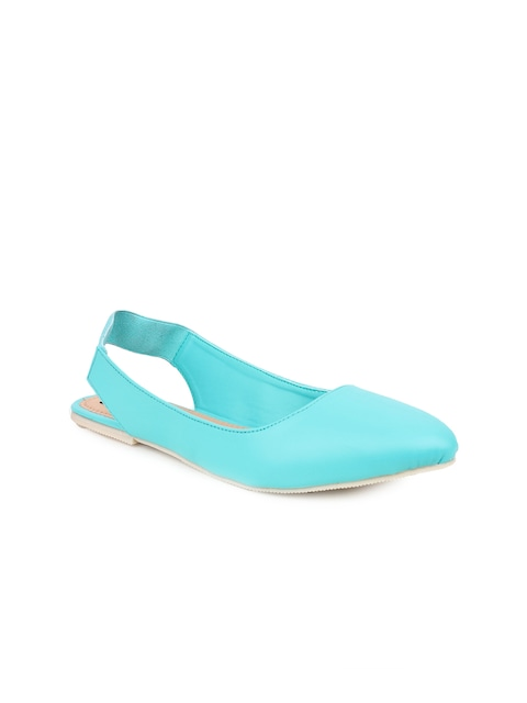 Shoetopia Women Turquoise Blue Flats thumbnail
