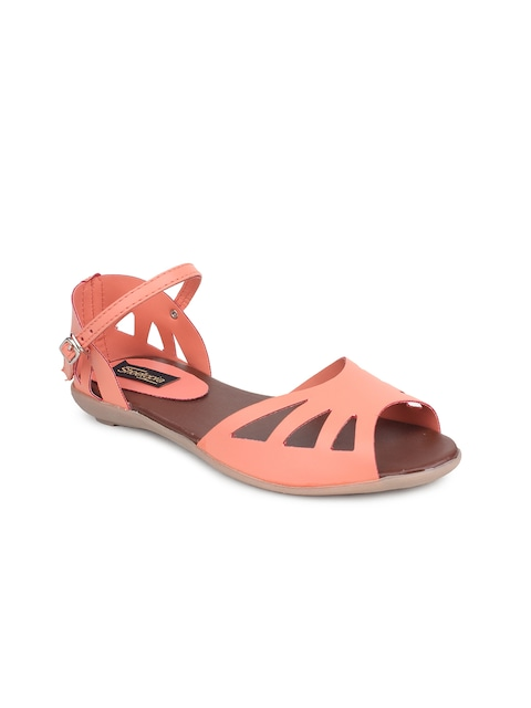 Shoetopia Women Peach-Coloured Flats thumbnail