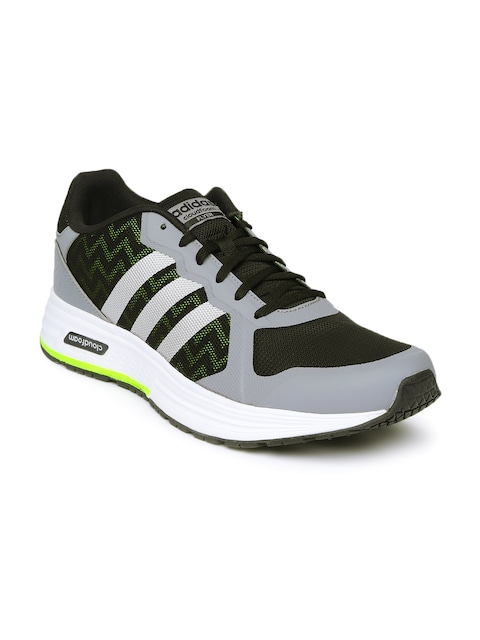 adidas shoes 2016 for men casual. buy adidas neo men grey \u0026 black cloudfoam flyer casual shoes - for | myntra 2016 w