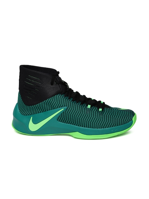 7fd637612a90 ... buy nike men teal green black zoom clear out basketball shoes sports  shoes for men myntra
