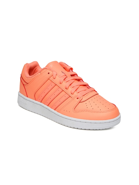 finest selection 63709 6d14a ... 50% off buy adidas neo women peach coloured hoopster sneakers casual  shoes for women 1461314