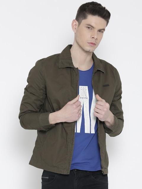 Buy Lee Olive Green Jacket - Jackets for Men | Myntra