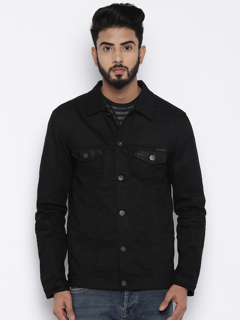 Buy Jack & Jones Black Denim Jacket - Jackets for Men | Myntra