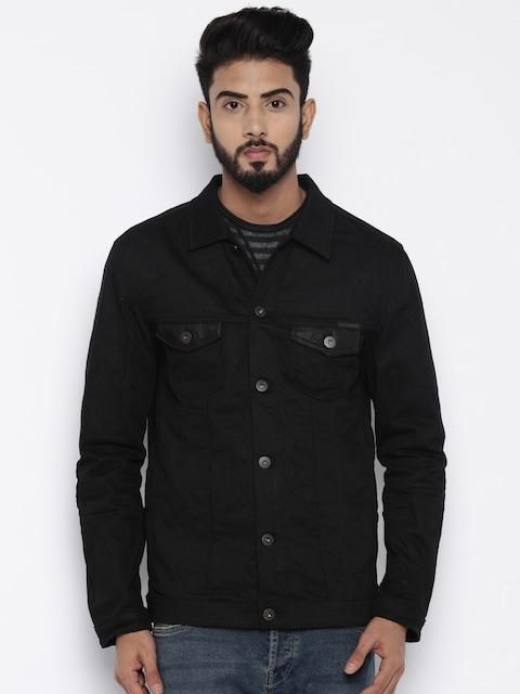 Buy Jack & Jones Black Denim Jacket - Jackets for Men | Myntra