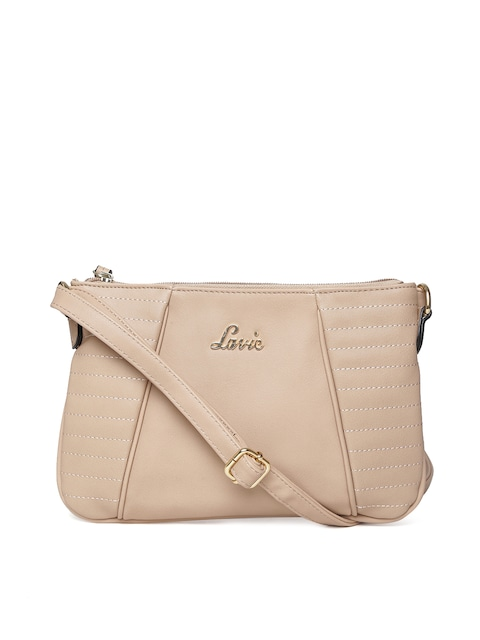 Buy Lavie Beige Sling Bag - Handbags for Women | Myntra