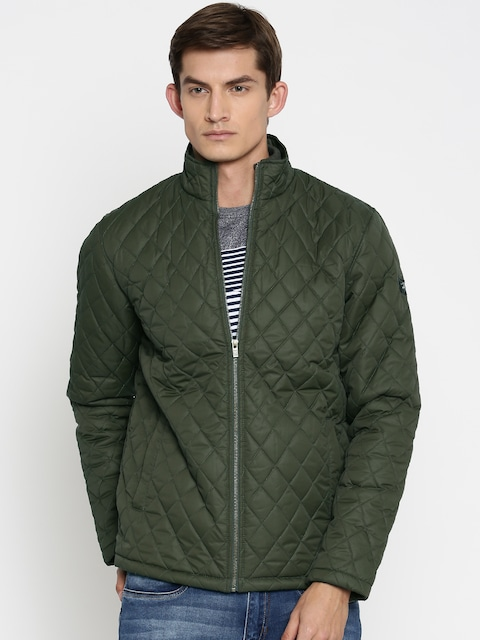 Buy Pepe Jeans Olive Green Quilted Jacket - Jackets for Men | Myntra
