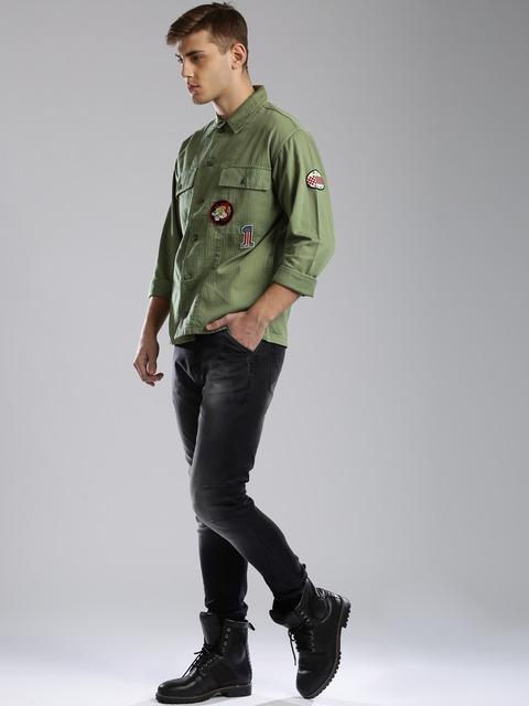 - Buy Tommy Hilfiger Olive Green Denim Jacket - Jackets For Men Myntra
