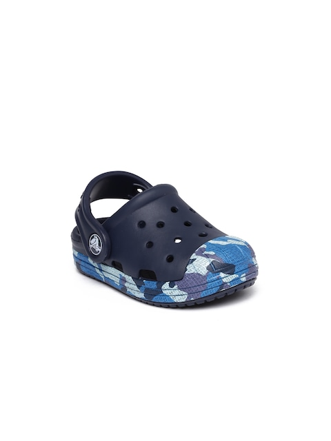 Crocs Boys Navy Printed Bump It Camo Clogs thumbnail