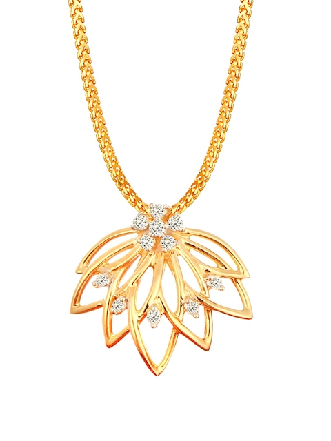 Buy mia by tanishq 14 karat gold precious pendant with diamonds buy mia by tanishq 14 karat gold precious pendant with diamonds pendant diamond for women 1689734 myntra mozeypictures Image collections