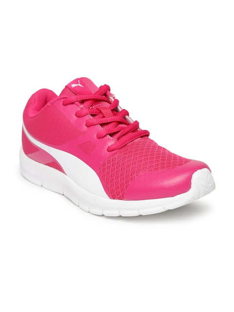 puma shoes for girls. buy puma girls pink flexracer sports shoes - for   myntra 1
