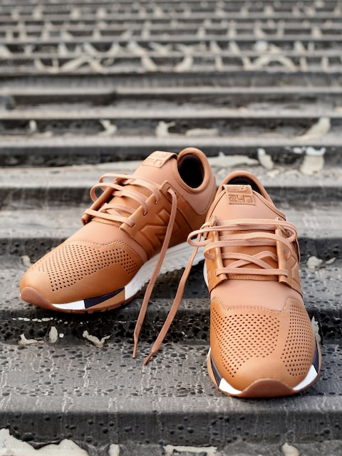 5d24136b2893 Engineered Buy New Balance Men Brown Perforated MRL247TA Leather Sneakers -  Casual Shoes for Men Myntra ...