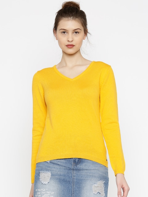 Buy Madame Yellow Sweater - Sweaters for Women 1716775 | Myntra