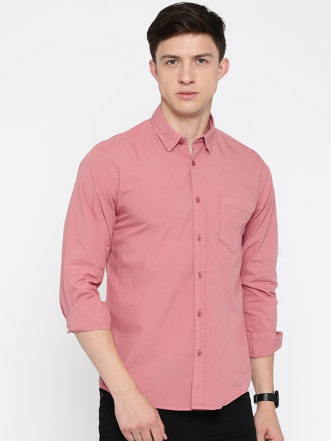 Buy Pepe Jeans Men Pink Casual Shirt - Shirts for Men | Myntra