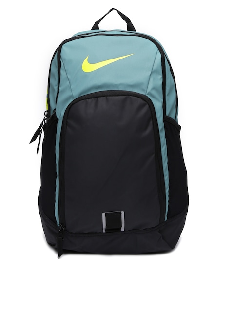 Nike Uni Black Teal Blue Alpha Rev Training Backpack. Nike Uni Black Grey Max  Air Vapor Backpack Backpacks For 1110481 Myntra 466bbda0bd7fa