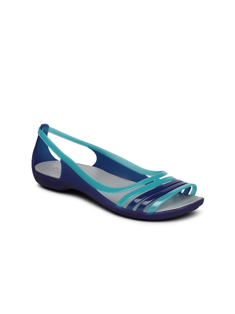 Crocs Women Blue Colourblocked Open-Toed Flats thumbnail