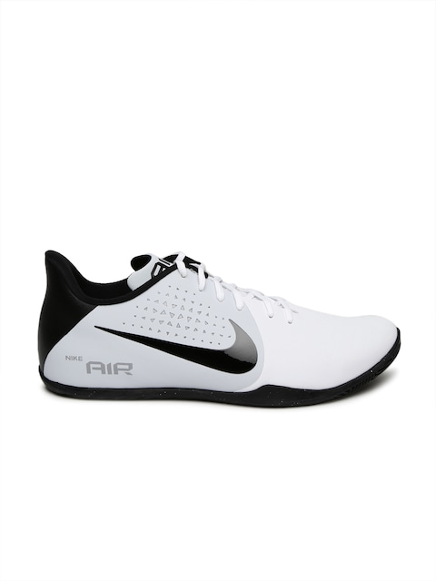 a3d022776f9a ... Buy Nike Men White Black AIR BEHOLD LOW Basketball Shoes - Sports Shoes  for Men Myntra ...